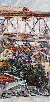 Ballard Painting - Across The Cut by Beth Betker