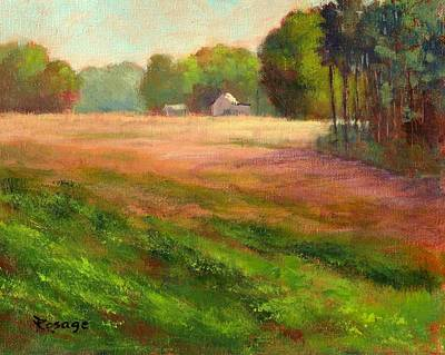 Painting - Across The Field by Bernie Rosage Jr