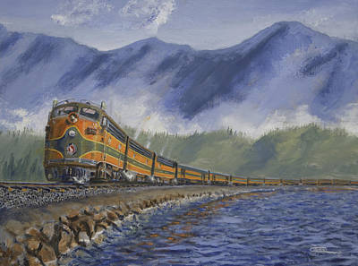 Art Print featuring the painting Across The Great Northwest by Christopher Jenkins