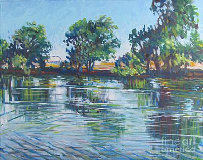 Bfa Painting - across the Joan Darrah Promenade by Vanessa Hadady BFA MA