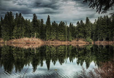 Across The Lake Art Print by Belinda Greb