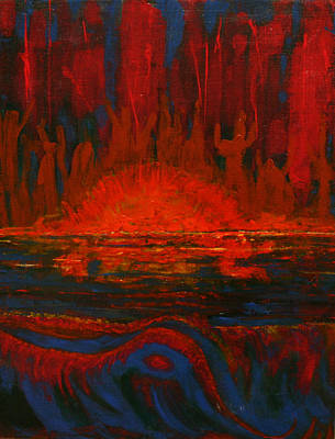Across The Lake-the Worshipers Original by Kathy Peltomaa Lewis
