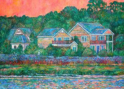 Art Print featuring the painting Across The Marsh At Pawleys Island       by Kendall Kessler