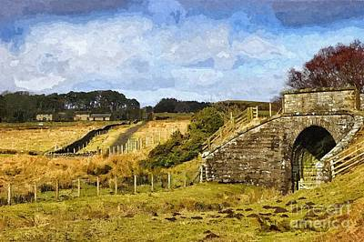 Across The Old Railway - Phot Art Art Print