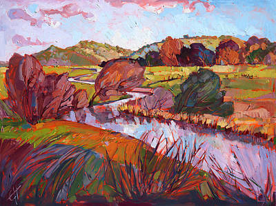 Loose Painting - Across The Plains by Erin Hanson
