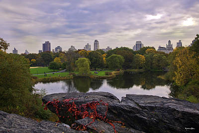 Across The Pond 2 - Central Park - Nyc Art Print
