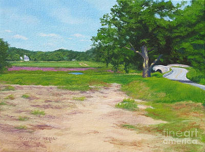 Sudbury River Painting - Across The Sudbury River Concord Massachusetts by Rosemarie Morelli