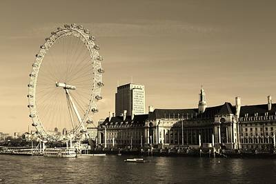 Photograph - Across The Thames Cityscape by Paula Guy
