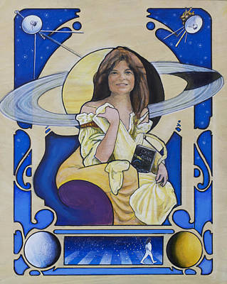 Nasa Painting - Across The Universe - Carolyn Porco by Simon Kregar