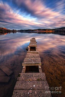 Boat Pier Photograph - Across The Water by John Farnan
