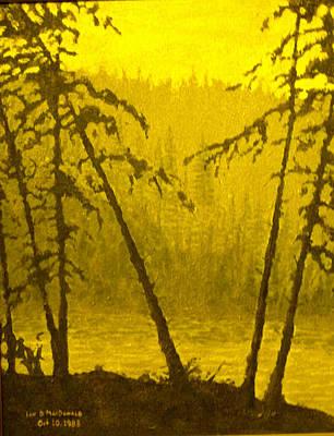 Painting - Acrosss The Lake by Ian  MacDonald