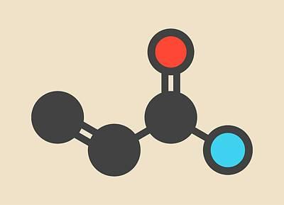 Toxicity Photograph - Acrylamide Molecule by Molekuul
