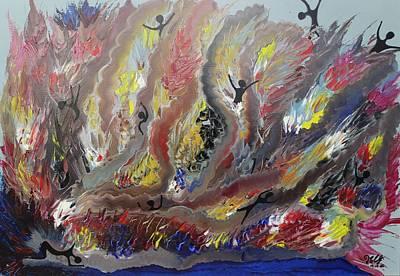 Painting - Acrylic Msc 149 by Mario Sergio Calzi