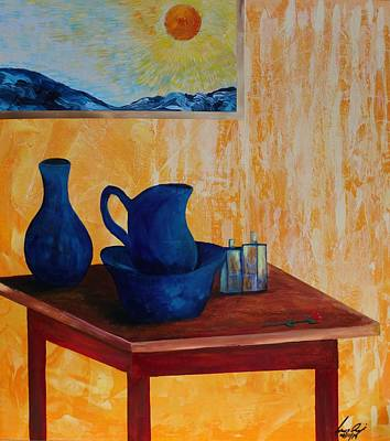 Painting - Acrylic Msc 197 by Mario Sergio Calzi