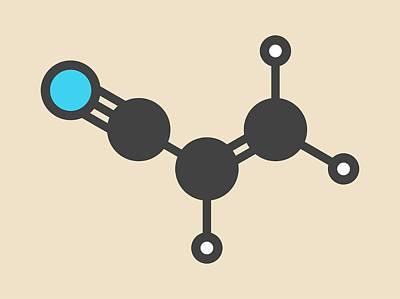 Polymer Photograph - Acrylonitrile Molecule by Molekuul