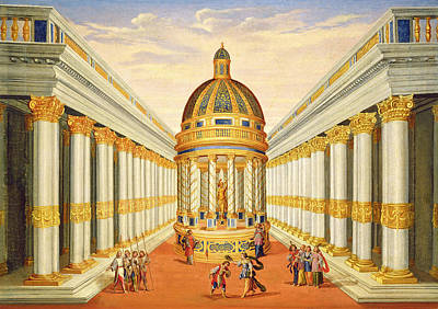 Performance Painting - Bacchus Temple by Giacomo Torelli