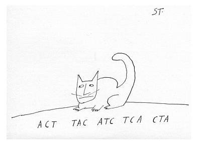 Atc Drawing - Act Tac Atc Tca Cta by Saul Steinberg