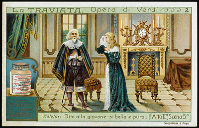 Act Two, Scene Five  Alfredo's Father Art Print by Mary Evans Picture Library