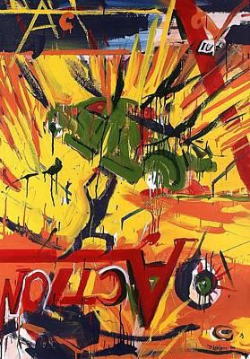 Action Abstraction No. 1 Art Print by David Leblanc
