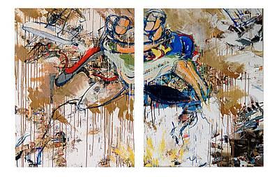 Action Abstraction No. 15 Original by David Leblanc