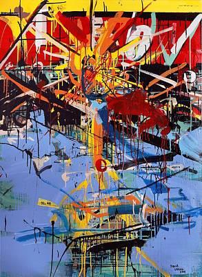 Painting - Action Abstraction No. 6 by David Leblanc