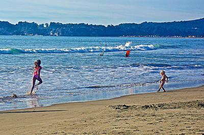 Stinson Beach California Photograph - Action On Stinson Beach-california  by Ruth Hager