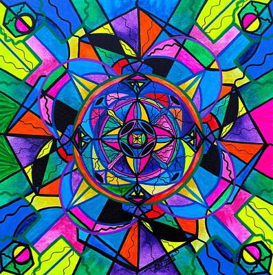 Sacred Geometry Painting - Activating Potential  by Teal Eye  Print Store