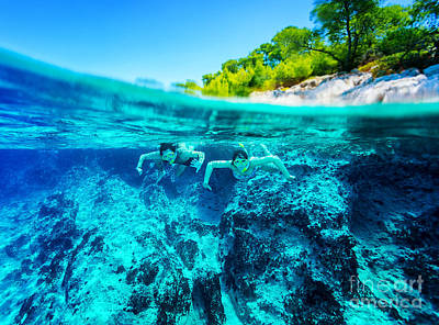 Photograph - Active Diver Couple by Anna Om
