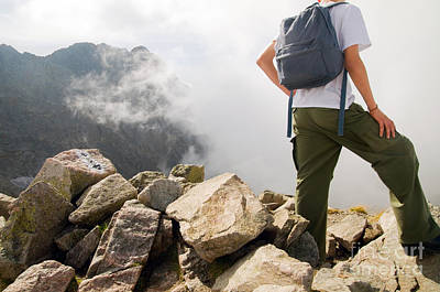 Photograph - Active Tourist In Mountains by Michal Bednarek