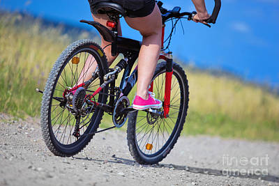 Weekend Photograph - Active Woman On A Bike by Michal Bednarek