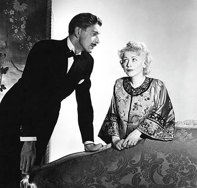 Ladies-in-waiting Photograph - Actor Alan Napier And Actress Gladys George by Horst P. Horst