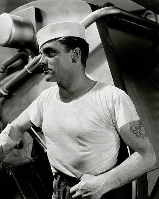 Actor James Cagney Wearing A Sailor Hat Art Print by George Hoyningen-Huen?