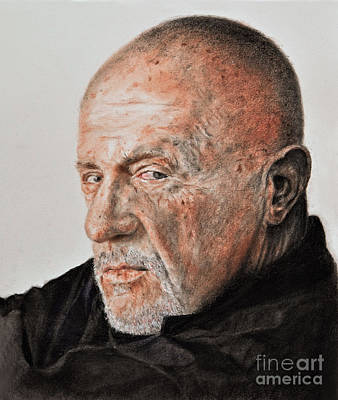 Actor Jonathan Banks As Mike Ehrmantraut In Breaking Bad Print by Jim Fitzpatrick