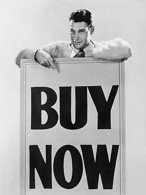 Black Commerce Photograph - Actor Says buy Now by Underwood Archives