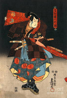 Utagawa Kunisada Photograph - Actors Diptych 1847 Left by Padre Art