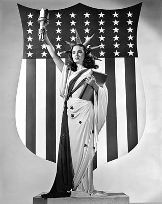 Statue Of Liberty Replica Photograph - Actress Ann Blyth by Underwood Archives