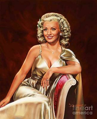 Painting - Actress Carole Landis by Dick Bobnick