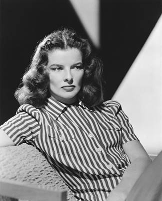 Woman Photograph - Actress Katharine Hepburn by Underwood Archives