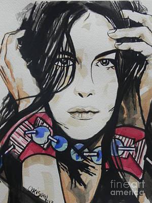 Liv Tyler Painting - Actress ...liv Tyler by Chrisann Ellis