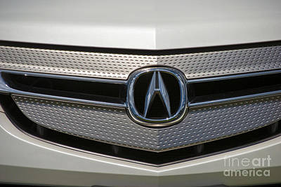 Photograph - Acura Grill Emblem Close Up by David Zanzinger