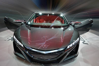 Photograph - Acura N S X Hybrid Concept 2013 by Dragan Kudjerski