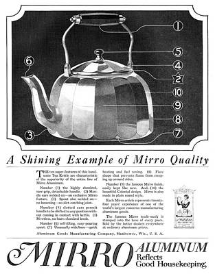Teapot Painting - Ad Aluminum, 1918 by Granger