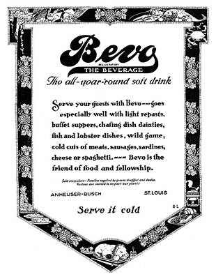 Busches Painting - Ad Bevo, 1919 by Granger