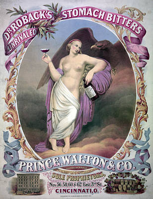 American Eagle Painting - Ad Bitters, C1866 by Granger