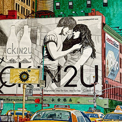 Painting - Ad Board 4u Manhattan by Andre Salvador