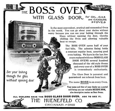 Cooks Illustrated Painting - Ad Boss Oven, 1911 by Granger