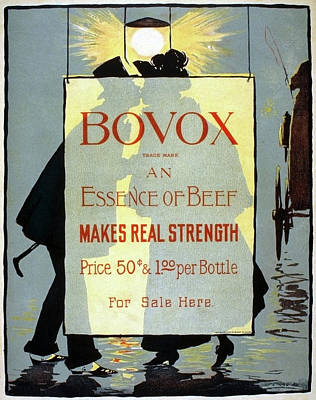 Streetlight Drawing - Ad Bovox, C1895 by Granger