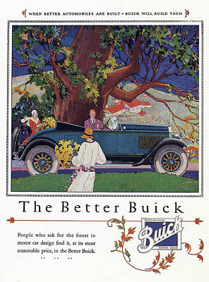 Buick Drawing - Ad Buick, 1926 by Granger