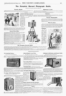 Harvard Painting - Ad Cameras, 1890 by Granger