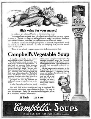 Ad Campbell's Soup, 1918 Art Print